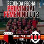 PROVINCIAL FEMENINO U13 – EL ROJINEGRO RECIBE A UNIVERSITARIO DE CÓRDOBA