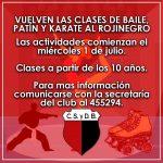 RETOMAN CLASES DE PATÍN, BAILE Y KARATE EN EL ROJINEGRO