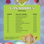 LA RIFA DE LA CIUDAD – GANADORES SORTEO FINAL