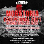CLUB CENTRO SOCIAL LANZÓ MORATORIA EXCEPCIONAL 2021